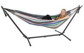 hammock set double hammock with frame and carry bag my