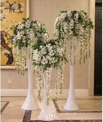 wedding centerpieces for sale 2015 hot sale silk flower artificial flower wisteria vine rattan