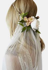 bridal veils with flowers gallery for gt wedding crown and veil