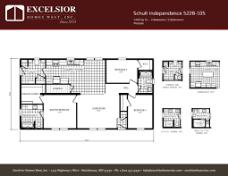 schult modular home floor plans schult independence 5228 105 excelsior homes west inc