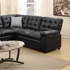 Bonded Leather Sofa Esofastore 2 Pcs Sectional Black Bonded Leather Sofa Loveseat