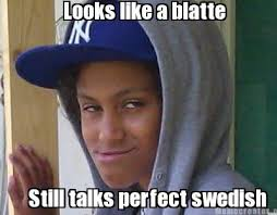 Swedish Meme - meme creator looks like a blatte still talks perfect swedish meme