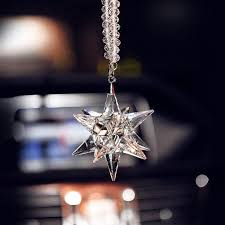 hanging car charm ornaments bling snowflake mirror pendant carsoda