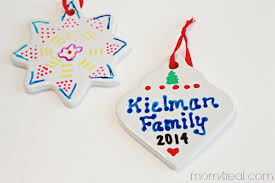 ornaments with names on them decorated clear