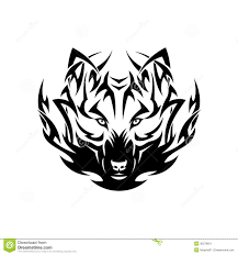 tribal wolf tattoo stock image image 30278651