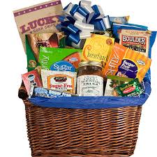 healthy food gift baskets sugar free gift basket sweet and savory healthy food gift gift