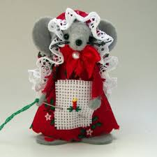 christmas ornament cross stitch mouse felt mice cute gift animal