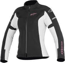 white motorcycle jacket alpinestars tech air alpinestars stella t jaws v2 air lady