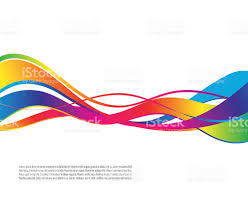 colorful ribbon vector illustration of colorful ribbon waves stock vector