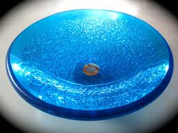 blue glass vessel sink handcrafted glass sinks and more by glass artisan brock madison