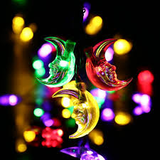 Christmas Rope Light Shapes by Luckled 20ft 30 Led Moon Solar String Christmas Lights With Sensor