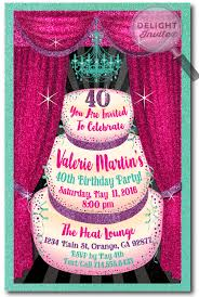 glamorous 40th birthday party invitation for women 40th birthday