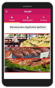 iga check com application mobile pour tournées de magasins