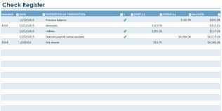 Petty Cash Spreadsheet Checkbook Register Template Excel