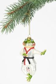 karate ornaments and on