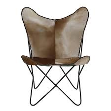 pouf en peau de vache fauteuil butterfly style vintage peau de vache grenier alpin