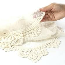 ivory lace table runner lace table runners lace table runner weddings by burlap lace table