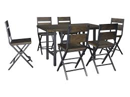korvina 7 piece rectangular dining room counter table w pine