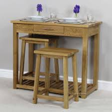 london solid oak breakfast bar kitchen table and 2 stools