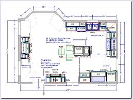 large kitchen floor plans popular kitchen layout island gallery ideas 8181