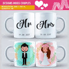 design sublimation mugs couples design motta