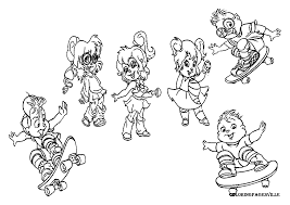 brittany chipmunk coloring pages coloring