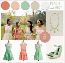 peach and green wedding theme decorating party