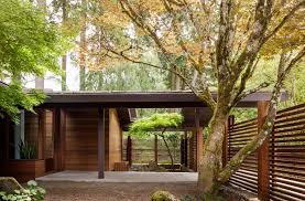 home courtyard mid century home in portland celebrates its history with a fresh