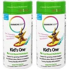 rainbow light kids one garden of life vegetarian multivitamin supplement for kids vitamin