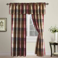 amazon com united curtain plaid window curtain panel 54 by 84