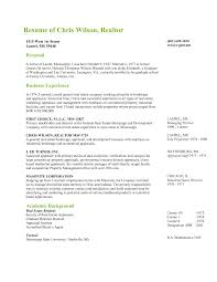 Sales Consultant Resume Sample Resume Realtor Resume For Your Job Application