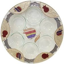 buy seder plate buy seder plate glass fusion in white by glass studio