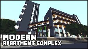 modern apartments minecraft modern apartment complex u0026 shops youtube