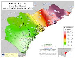 Map Of The Carolinas Usa by Thousand Year Deluge In South Carolina Noaa Climate Gov