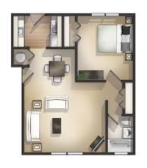 Floor Plan For 3 Bedroom Flat by Bedroom Expansive 1 Bedroom Apartments Floor Plan Concrete Wall