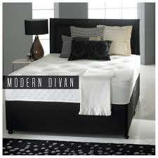 divan bed with ortho mattress headboard and 2 drawers 4ft6