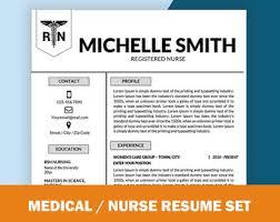 Lpn Resume Samples by Nursing Resume Etsy