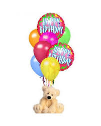 balloons and teddy bears teddy with balloons in elizabeth pa barton s flowers bake