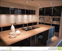 cuisine noir cuisine bois et blanc design