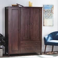 clothing armoires cupboard short wardrobe armoire bedroom with drawers espresso