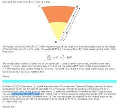 create a truncated cone template