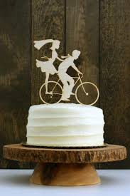 bicycle cake topper rustic bike wedding cake topper with and groom silhouettes