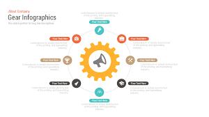 Free Powerpoint Timeline Template Gear Infographics Free Powerpoint And Keynote Template Slidebazaar