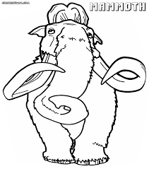 mammoth coloring pages coloring pages to download and print