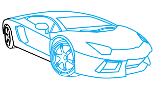 how to draw lamborghini aventador a car easy step by step