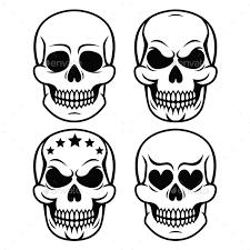human skull design day of the dead by redkoala