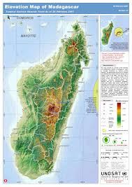 Terrain Map Of Usa by Large Detailed Elevation Map Of Madagascar Madagascar Large