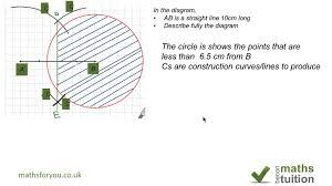 igcse maths construction and locus youtube