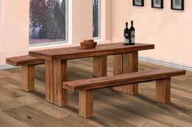 dining room set bench rustic varnished oak wood dining table with double benches in pink