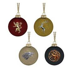game of thrones house sigil glass ball ornaments game of thrones